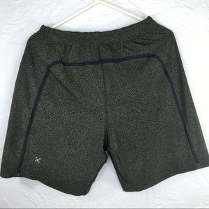 Lululemon olive and black Pacemaker Shorts-M